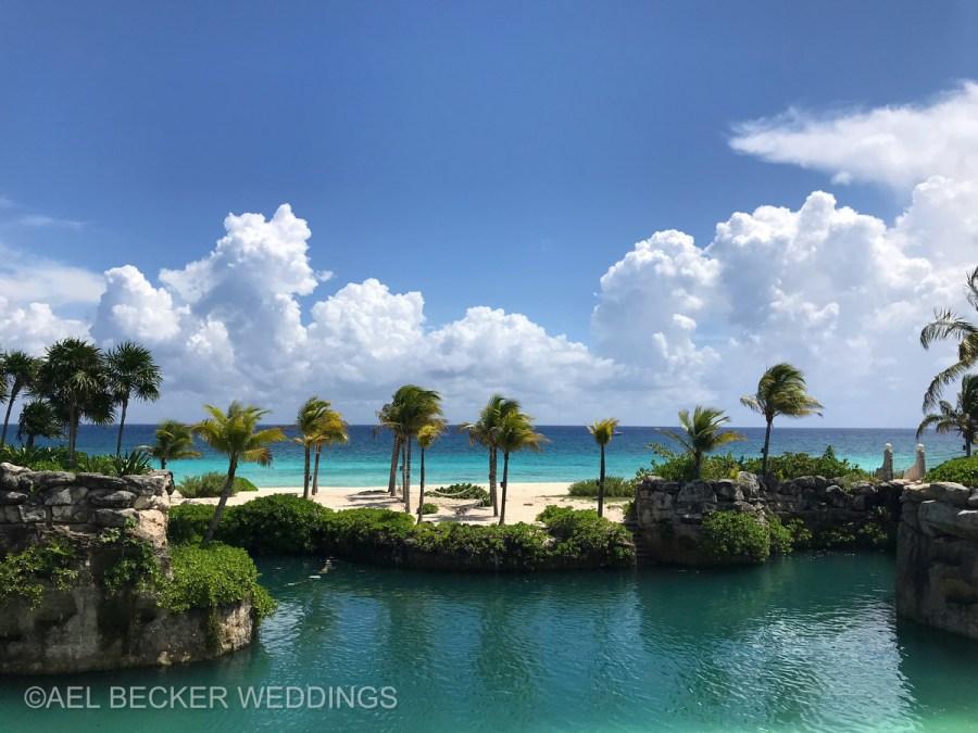 Hotel Xcaret Mexico, beach area. Ael Becker Weddings