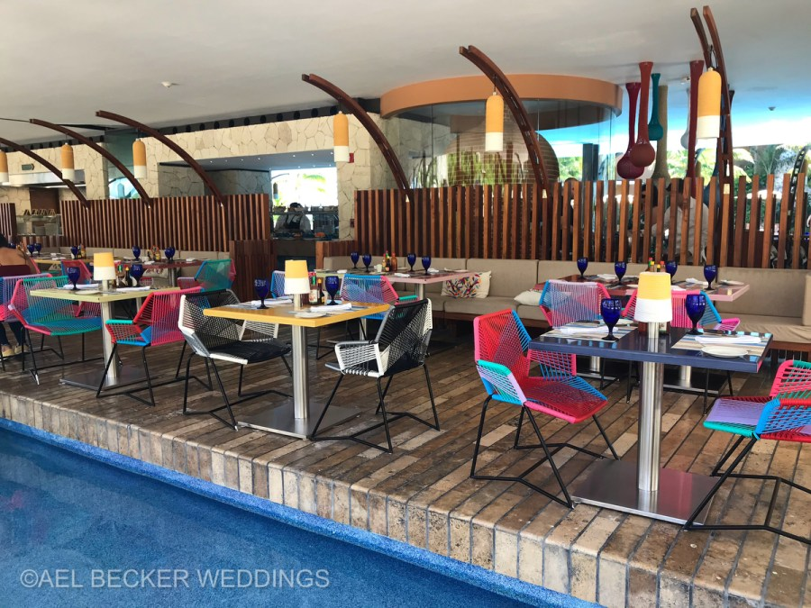 Hotel Xcaret Mexico, Trajinera Restaurant. Ael Becker Weddings