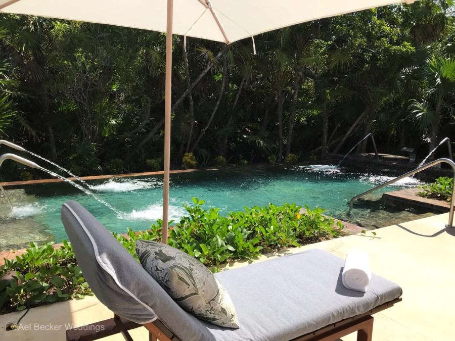 Hydrotherapy at Chable Maroma, Riviera Maya, Mexico, Ael Becker Weddings