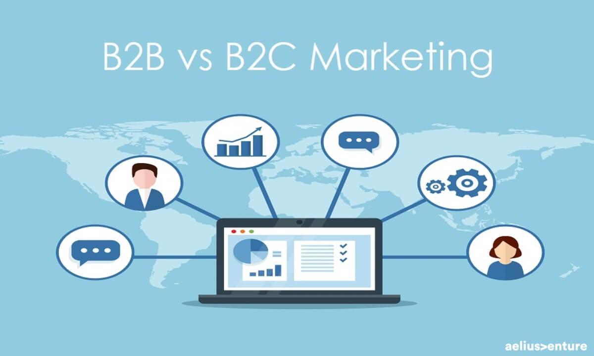 b2b b2c business marketing show laptop icon