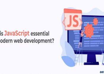 why is javascript essenstial show laptop person sitting doing coding