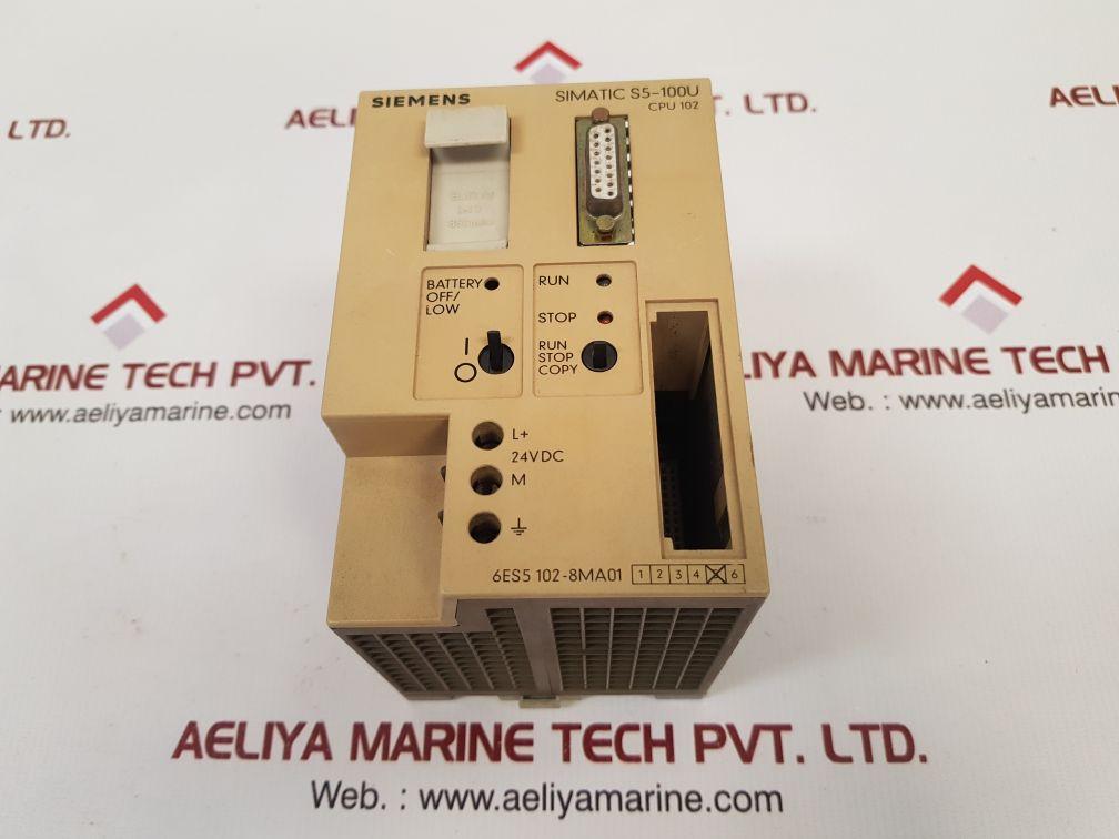 SIEMENS SIMATIC S5-100U CPU 102 6ES5 102-8MA01