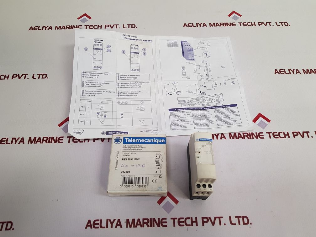 TELEMECANIQUE SCHNEIDER ELECTRIC RE9MS21MW MULTI FUNCTION TIMER RELAY