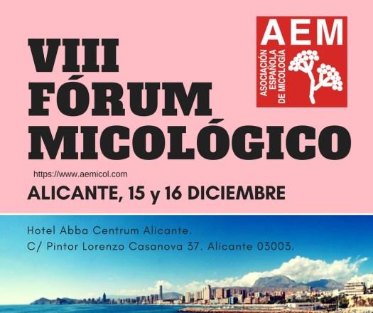 VIII Fórum Micológico Alicante AEM