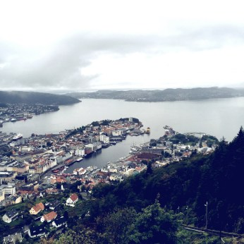 City of Bergen and the fjords