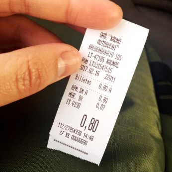 Proof of purchase: 0.80 EUR bus ride!