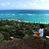 The view from the Kailua Pillbox Hike