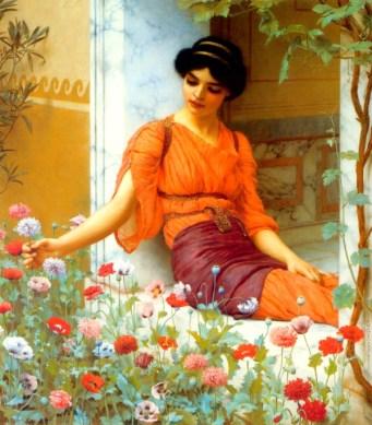 Summer Flowers by John William Godward (1903)