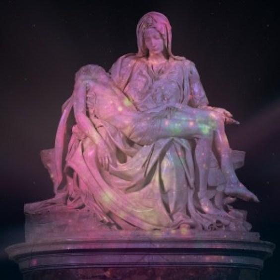 Michelangelo's Pietà in St. Peter's Basilica.