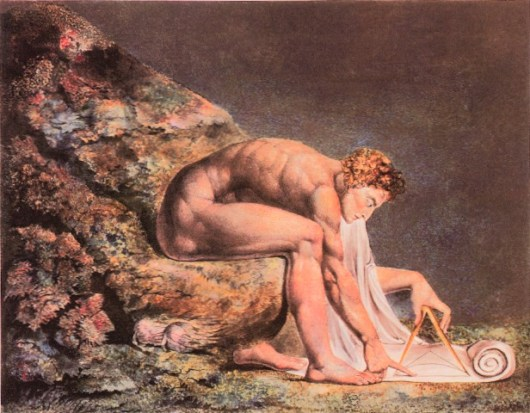 William Blake, depicted Newton as a misguided hero whose mind was directed only at sterile geometrical diagrams