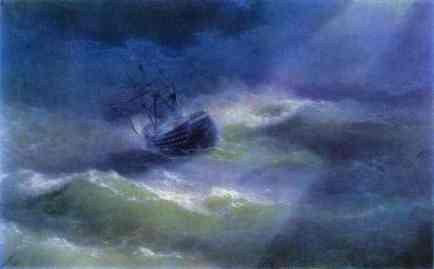 The Mary Caught in a Storm by Ivan Aivazovsky (1892)