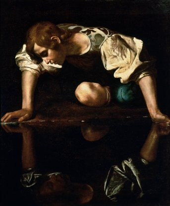 Narcissus by Caravaggio (1594-96)