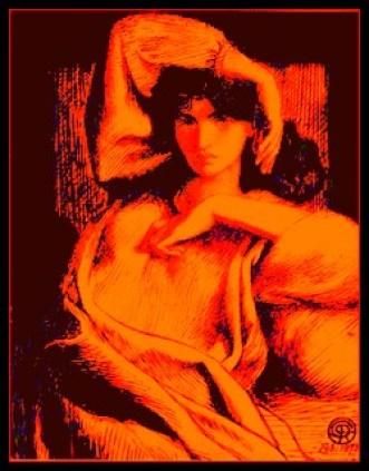 Jane Morris by Dante Gabriel Rossetti (1873)