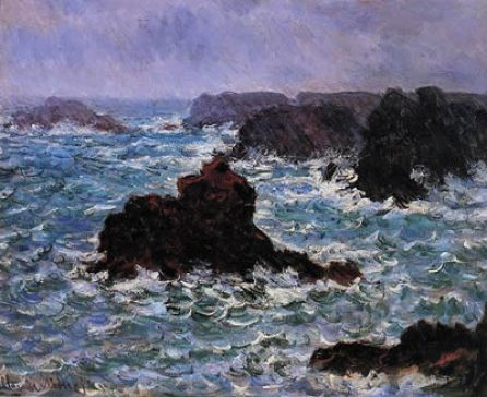 Wild Cliffs at Belle-Ille by Claude Monet