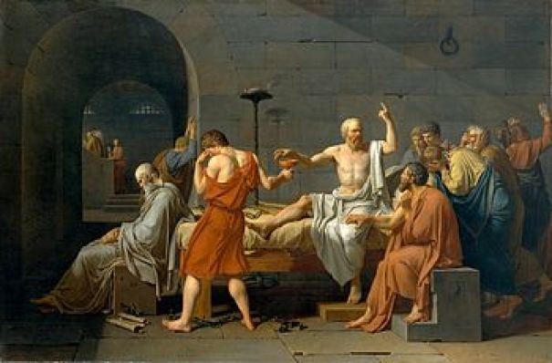 The Death of Socrates by Jacques-Louis David (1787)