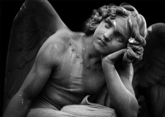 Roma, Cimitero del Verano, Angelo della Notte, Giulio Monteverde - Rome, Verano