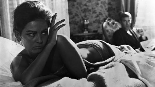 Claudia Cardinale and Luchino Visconti, Italy, (1965)