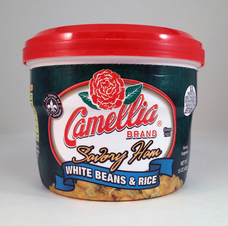 Camellia product packaging white beans