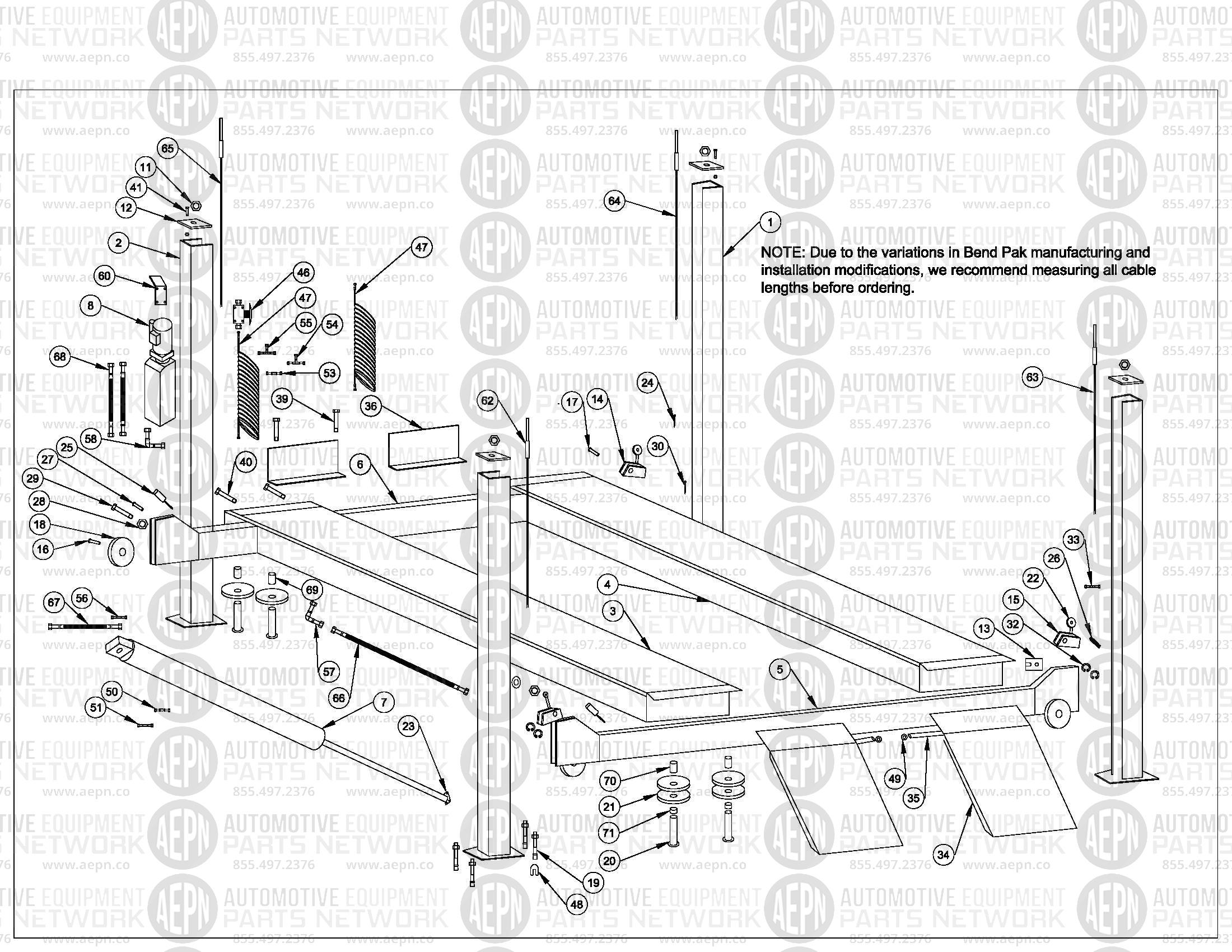 Bend Pak Hd12 Parts Breakdown