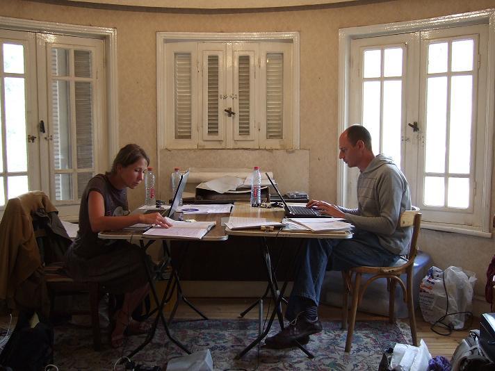 KKT team Kasia Olchowska and Dan Jones working their day off.