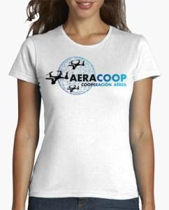 camiseta drones blanca chica