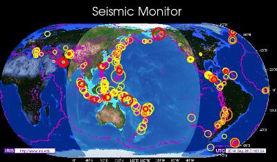 Earthquake map sep 25, 2014