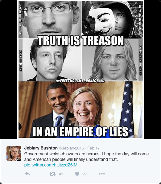 """And - """"[Telling The-] Truth is Treason In An Empire Of Lies"""""""