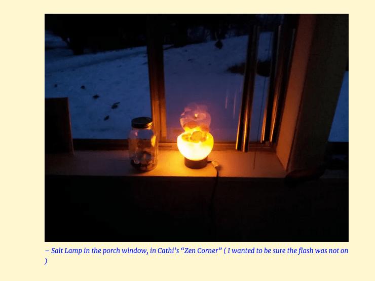 Zen Corner Salt Lamp