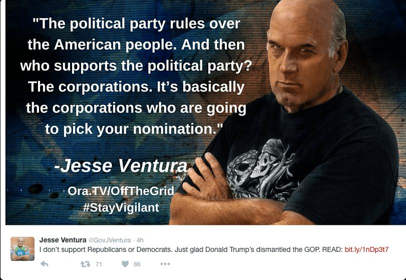 Jesse Ventura Tweet