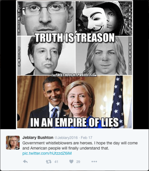 """Truth is Treason in an Empire of Lies"""