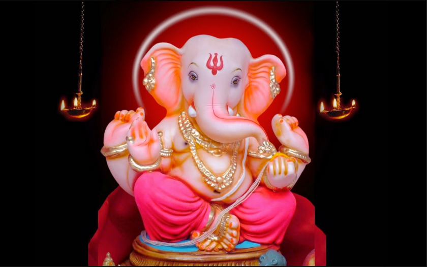 Ganesh - with a black background