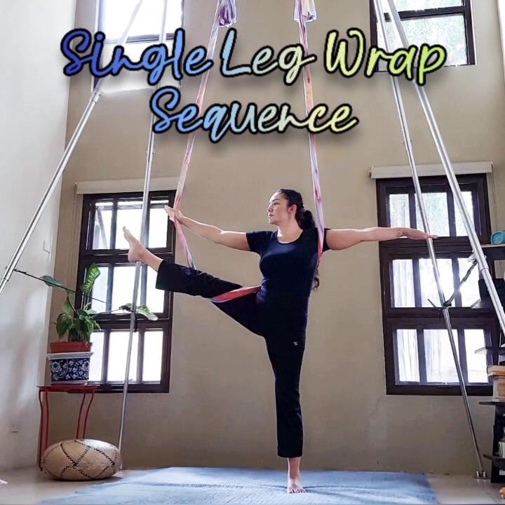 Aerial Yoga Single Leg Wrap Sequence