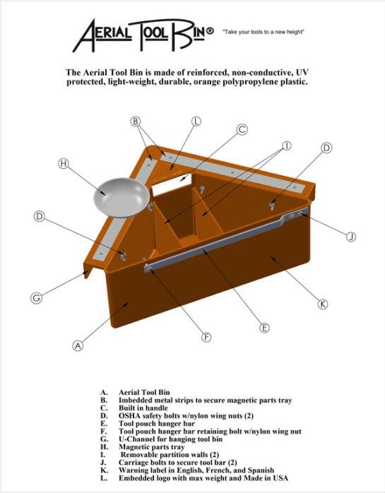 Aerial Tool Bin Element Drawing
