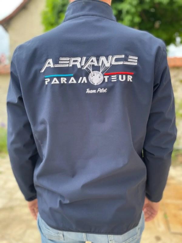 veste aeriance paramoteur team pilot