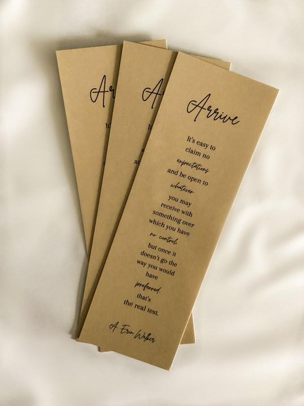ARRIVE Novel Bookmarks