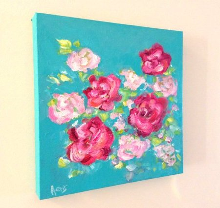 Abstract Roses Painting
