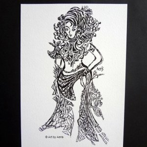 Belly Dancer Drawing