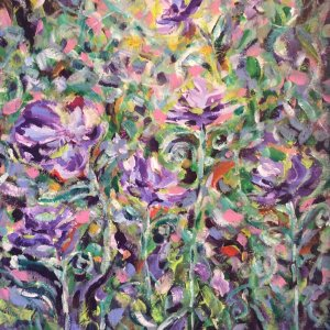 Dancing Pansy Painting