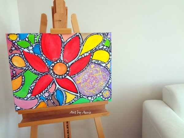 Mosaic Flower Painting