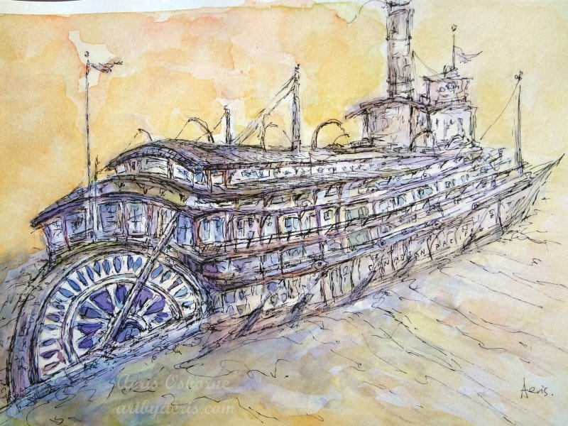 SS Moyie Painting
