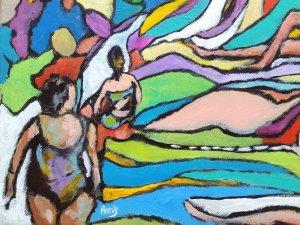 Radium hotspring painting