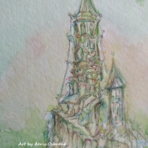Castle Watercolor Painting