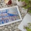Hong Kong Greeting Blank Card With Artisan Envelope