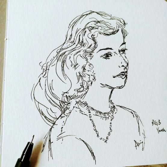 RBG Ruth Bader Ginsburg Young Portrait By Aeris Osborne