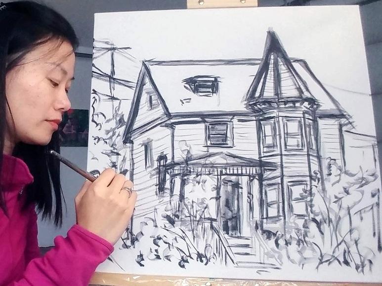 House Portrait Work In Progress Aeris Osborne 1