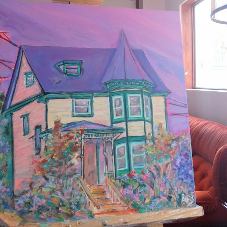 Victorian Queen Anne House Portrait Work In Progress Aeris Osborne 2