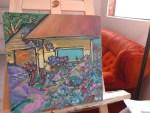 Highlands Back Alley Impressionist Painting By Aeris Osborne (1500px)