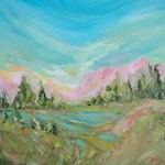 Mountains Mountains Sunrise, Acrylic Painting By Aeris Osborne (1500px)