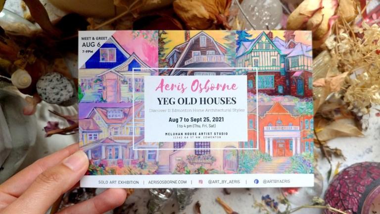 YEG Old Houses Postcard