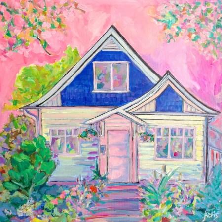 Alberta Avenue Craftsman House Painting By Aeris Osborne